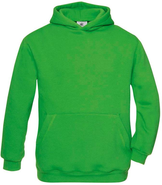O.pulover HOODED KIDS; real zelena; M