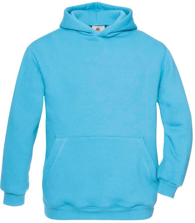 O.pulover HOODED KIDS; turkiz modra; XXL